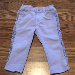 Baby girl Gymboree ruffle jeans size 12-18 months